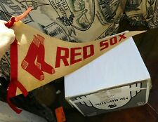 "RARE Vintage 1940's Boston Red Sox Pennant Flag Sign Keezer 30"" Baseball MLB NR"