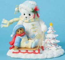 Cherished Teddies BEAR & SNOWBEAR & SLED Christmas Figurine NIB