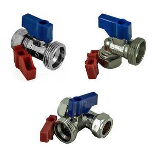 WASHING MACHINE/DISHWASHER VALVE HOT & COLD WATER C/P VALVE TAP