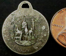 R659: Mid 1800's Catholic Religious Medal or Icon - White Metal - MONTMARTRE