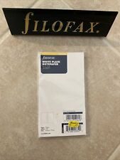 New Listingnew Filofax Personal Size White Plain Notepaper Value Pack Refill 132451