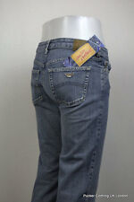 ARMANI jean femme w 26 l 32 braguette zippée bootcut indigo série 004 eagle italie bleu