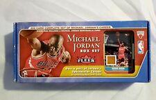 2007 Fleer Michael Jordan 200 Cards Box Set W/Hardwood Floor Relic Card