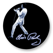 "Pin Button Badge Ø25mm 1"" Elvis Presley The King Rock and Roll US"
