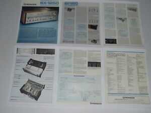 Pioneer SX-1250 Ultimate Receiver Brochure 6 pgs, 1976, Article, Specs, Info