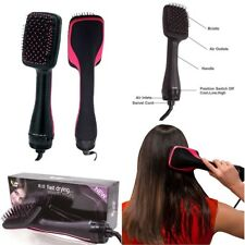 2in1 Hot Hair Dryer Blower Styler Professional One Step Brush Straightener