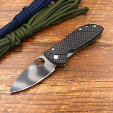 Enlan Bee Packet Tactical Folding Knife 8Cr13MoV Blade Carbon Fiber Hand M020FH
