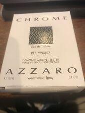 CHROME Tester by Azzaro 3.4 oz edt Cologne Spray for Men