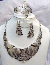 Dubai Silver Plated Unique Design Necklace Jewellery Set