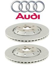 Audi RS4 Pair Set of 2 Rear Disc Brake Rotors 324 x 22mm Cross Drilled Genuine