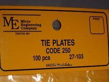 MICRO ENGINEERING #27-103 TIE PLATES CODE 250 100 PCS BIGDISCOUNTTRAINS