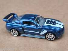 2013 Hot Wheels CUSTOM 12 FORD MUSTANG 230/250 HW Showroom LOOSE Blue