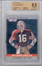 1990 Pro Set Super Bowl MVP'S (#19) Joe Montana (HOF) BGS9.5 BGS