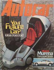 Autocar magazine 11/4/1981 featuring Mercedes road test, Talbot Matra Murena