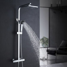 Thermostat Duscharmatur Brausearmatur mit Handbrause Regendusche Duschset Shower