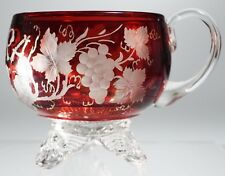 EAPG - U.S. Glass Co - COLORADO - Ruby Stained Punch Cup - Etching