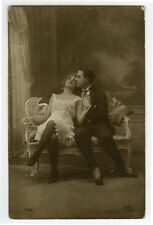 1910s Glamour French UNDER SLIP FASHION Beauty Risque n/ Nude photo postcard