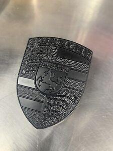 Porsche Black Hood Crest 911 996 997 930 Badge Emblem Cayenne Boxster Cayman