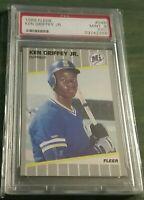 1989 Fleer Ken Griffey Jr. ROOKIE RC #548 PSA MINT 9 OC Seattle Mariners HOF