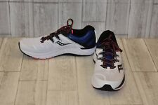 Saucony Guide ISO Sneaker-Men's Size 12 White/Blue Red/Black