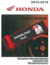 Honda 2018 Trx 500 Service Manual