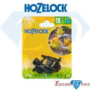 Pack of 5 Hozelock In Line Adjustable Mini Sprinkler 4mm Micro Irrigation