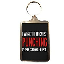 I Work Out - Novelty Keyring (PUNCH)