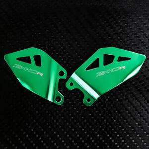 Aluminum Foot Pedal Heel Guard Plates For Kawasaki ZX-10R Ninja 2011-2020 ZX10RR
