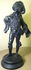"RARE 17"" Antique Cast Metal Conquistador Soldier Statesman Statue Sculpture"