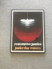 Thomas W. Benton  Signed Silkscreen Restorative Justice, Justice That Restores