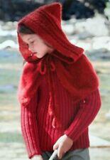 KNITTING PATTERN Capelet Girls poncho cape shrug aran alpaca (46)