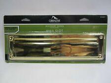 Gibraltar Steel Mail Slot, Brass Finish, Ms00Bro3