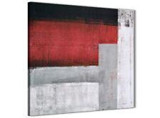 Rosso Grigio dipinto art. a muro cucina accessori-Astratto 1s428s - 49 cm