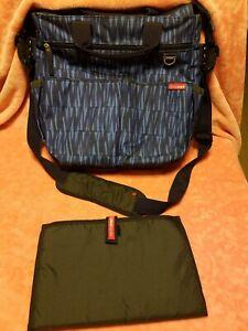 Skip Hop Diaper Bag Navy Blue Graffiti