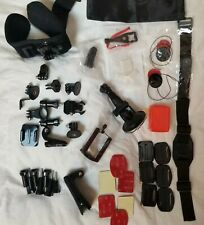 LOT OF GOPRO ACCESSORIES MOUNTS WRIST PHONE HERO 8 7 6 5 BLACK HUGE BUNDLE PARTS
