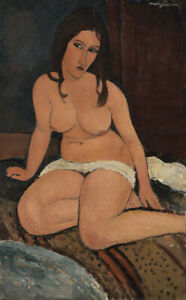 Amedeo Modigliani Seated Nude Giclee Canvas Print Paintings Poster Reproduction