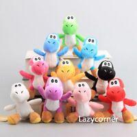 "10X Super Mario Bros. YOSHI Plush Dragon Doll Soft Toy Keychain 4.5"" Pendant NWT"