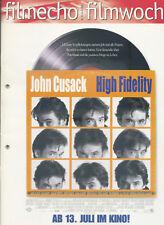 filmecho filmwoche Nr. 25 (2000) John Cusack High Fidelity Jack Black Lisa Bonet