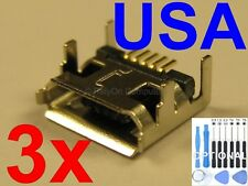 3x New Lot of Micro USB Charging Port Charger Sync for Vizio VTAB1008 Tablet USA