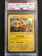 PSA 9 Mint - PIKACHU HOLO - Pokemon TCG: Sun & Moon Black Star Promo #SM76