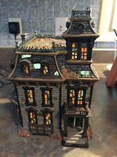 dept 56 halloween Mordecai Mansion Mib! Rare #4025337 retired 2014