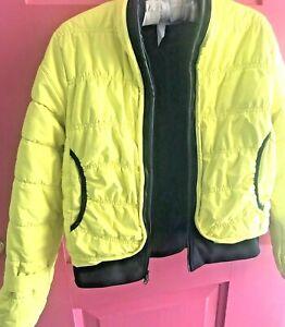 ADIDAS by STELLA McCARTNEY Yellow /Black  PUFFER SKI Jacket Size Small