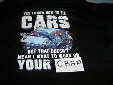 Car Mechanic Black Hoodie Sweatshirt - Large - New