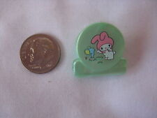 SANRIO MY MELODY  MINI PEARL CHARACTER CLIPS GREEN VINTAGE '76/ '90 NEW