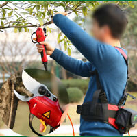 220V Chargeable Electric Pruner Tree Branch Cutter Secateurs Shears w/Battery