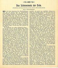 La red ferroviaria de la tierra la red ferroviaria del mundo memorabile histórica 1899