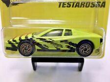 1994 Matchbox Ferrari Testarossa in Yellow w/ Gold 6-Spoke Spiral Wheels #75