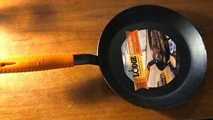 Lodge Manufacturing Carbon Seasoned Steel Skillet Black/Orange 12-Inch New