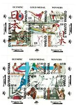 Guyana - 1992 - Olympic Gold Medal Albertville OVPT  - 3 Sheets Of 9 - MNH