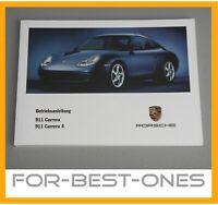 NEU Porsche 911 996 Betriebsanleitung Bedienungsanleitung Wartung Handbuch